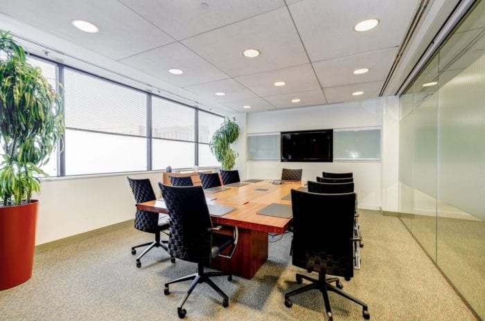 Large conference room at Carr Workplaces Bethesda location