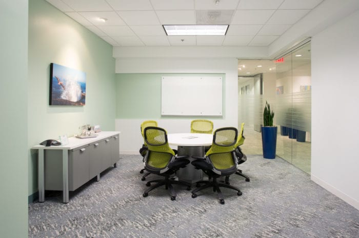 Small meeting room at Carr Workplaces Laguna Niguel location