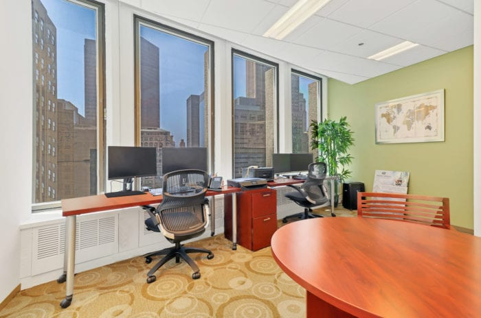 Coworking space with gorgeous view of Midtown New York City