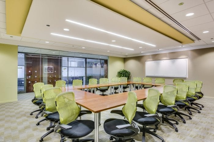 Large Chicago meeting space at the AON Center Carr Workplaces