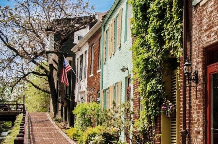Gorgeous Georgetown streets near our virtual office location